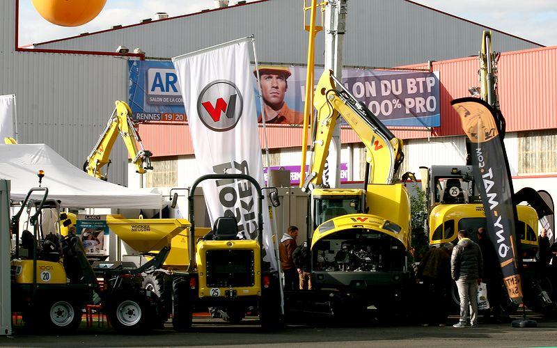 Engins de chantier Wacker Neuson du Salon Artibat.