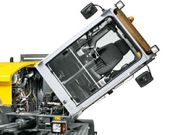 Cabine basculante de la mini-pelle EW65 de Wacker Neuson, Tony-Mat pelles et matériel btp Bretagne Morbihan