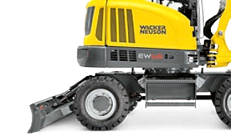 Stabilité de la mini-pelle EW65 de Wacker Neuson, Tony-Mat pelles et matériel btp Bretagne Morbihan