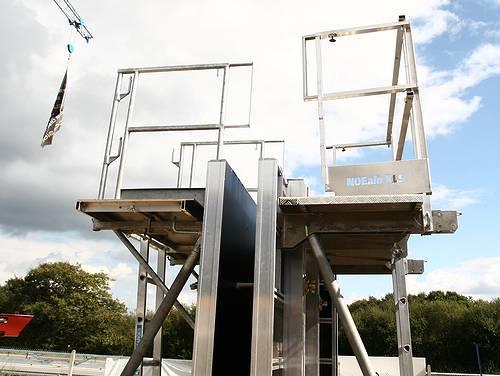 Exemple de coffrage de la société Noe Alu à la société Tony-Mat lors de la journée portes ouvertes du 30 septembre 2014, Tonymat matériel btp Bretagne Morbihan 56000 Vannes.