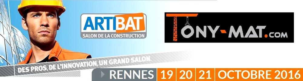 Tony Mat au Salon ARTIBAT de Rennes, les 19, 20 et 21 octobre 2016, logo.