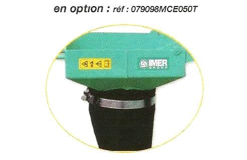 Goulotte et manchette en option pour la benne à béton pour chariot élévateur - MCE de IMER.