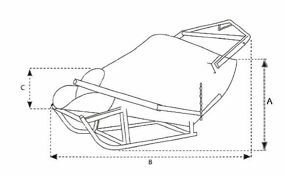 Schéma de la benne à béton couchée à palonnier - BCF de IMER