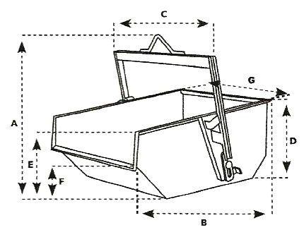 Benne à terre à palonnier rabattable autobasculante IMER A - D