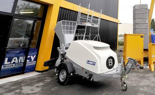 le transporteur malaxeur de chape traditionnelle TM 550 de Lancy