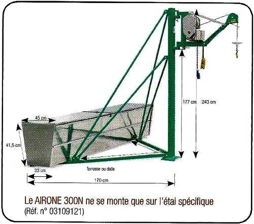 Kit étai spécifique pour le treuil IMER AIRONE 300 N.
