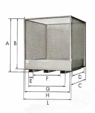 Cage sécurisée IMER CST pour la manutention de palettes.
