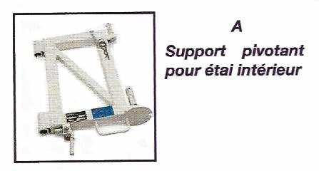 Support pivotant pour étai intérieur - IMER