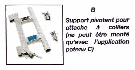 Support pivotant pour attache à colliers - IMER