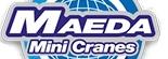 Logo de Maeda, constructeur des mini-grues