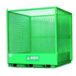 Cage sécurisée CST pour la manutention de palettes - IMER CST - lève-palette - levage manutention