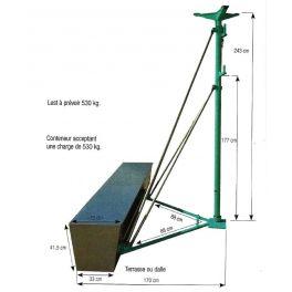 Etai d'extérieur avec conteneur pour treuil élévateur jusqu'à 200 kg, IMER