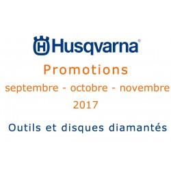 Promotions disques et outils diamantés HUQSVARNA automne 2017