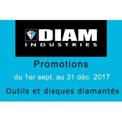 Promotions disques et outils diamantés DIAM INDUSTRIES automne 2017