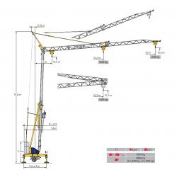 Grue Potain à montage automatisé IGO M 11