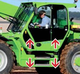 Cabine suspendue du chariot Turbofarmer Merlo TF 50.8 T CS, Tony-Mat chargeur élévateur et matériel btp Bretagne Morbihan 56 Vannes